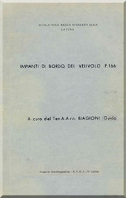 Piaggio P.166   Aircraft Flight System Training   Manual,  ( Italian Language ) - 1968