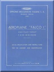 Reggiane R-2000 Aircraft Erection and Maintenance Manual,  Istruzioni per il Montaggio  e la Regolazione ( Englosh Language ) ,