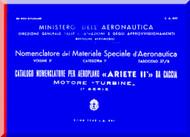 Reggiane R-2002 Aircraft Illustrated Parts Catalog  Manual, Catalogo Nomenclatore ( Italian Language ) CA.643 - 1943