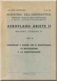 Reggiane R-2002  Series II Aircraft Erection and Maintenance Manual,  Istruzioni per il Montaggio  e la Regolazione ( Italian Language ) ,