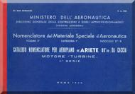 Reggiane R-2002 Aircraft Illustrated Parts Catalog  Manual, Catalogo Nomenclatore ( Italian Language ) CA.643 - 1944
