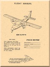 Partenavia  P68 B Victor  Aircraft Flight Manual  ( English Language )
