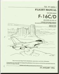 General Dynamics / Lockheed  F-16 C / D  Aircraft   Flight Manual Block 40 and 42 +