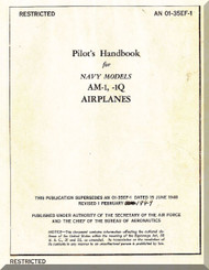 Glenn Martin AM-1, AM-1Q   Handbook  Manual   AN-01-35EF-1,  1949
