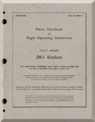 Glenn Martin JM -1 (B-26) Pilot Handbook of Operation and flight instruction  Flight Manual   ,  An 01-35KA-1, 1945 -