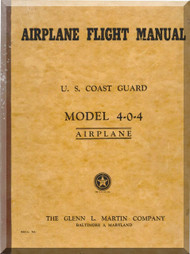 Glenn Martin 404 Flight  Manual US Cost Guard 1958