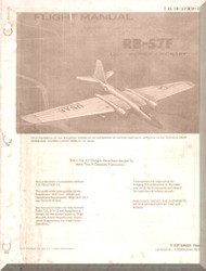 Glenn Martin RB-57 F Canberra Aircraft Flight  Manual -  1B-57(R)F-1 - 1966