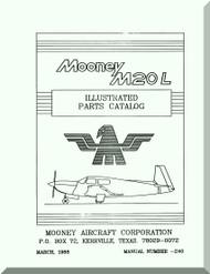 Mooney M.20 L Aircraft Illustrated  Part Manual - 1988