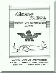 Mooney M.20 L Aircraft Service Maintenance Manual - 1988