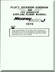 Mooney M.20 J Aircraft Pilot's Handbook Manual - 1978