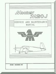 Mooney M.20 J Aircraft Service Maintenance Manual - 1998