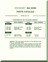 Mooney M.20 C E F G Aircraft  Illustrated Parts Manual - 1976 -2