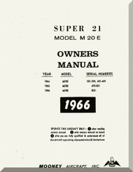 Mooney M.20 E Aircraft Owner Manual  - 1966