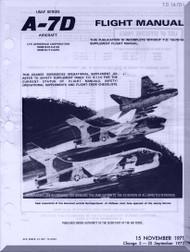 "Vought A7D "" Corsair II  ""  Aircraft Flight  Manual 01-A7-D1  - 1971"