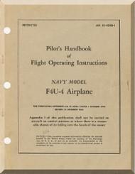 "Vought F4U-4 "" Corsair "" Aircraft Flight Pilot's Handbook Manual 01-45HB-1 - 1945"