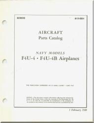 Vought F4U-4  F4U-4 B Aircraft Illustrated Parts Caralog Manual , AN 01-45HB-4 , 1948