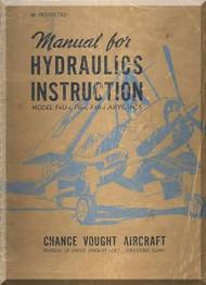 Vought F4U-1, FG-1, F3A-1 Aircraft Hydraulic System Manual
