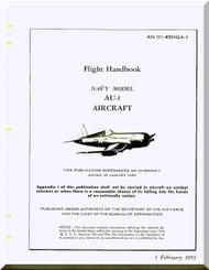 Vought AU-1 Flight  Handbook of flight operation instructions , AN 01-45HGA-1 , 1953