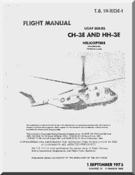 Sikorsky CH-3 C, E  Helicopter Flight Manual  , T.O. 1H-3(C)C-1 , 1967