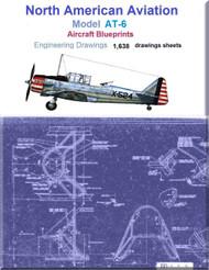 North American Aviation AT-6  Aircraft Blueprints Engineering Drawings - DVD