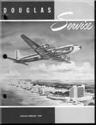 Douglas  Aircraft Service Digest  -  January -  February  - 1956