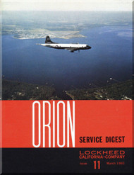 Lockheed Orion  Aircraft Service Digest  - 11 -  March  1965