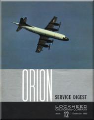 Lockheed Orion  Aircraft Service Digest  - 12 -  December -  1965