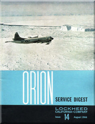 Lockheed Orion  Aircraft Service Digest  - 14 -  August -  1966