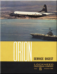 Lockheed Orion  Aircraft Service Digest  - 15 -  December -  1966