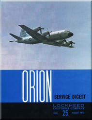 Lockheed Orion  Aircraft Service Digest  - 25 -  August  -  1972
