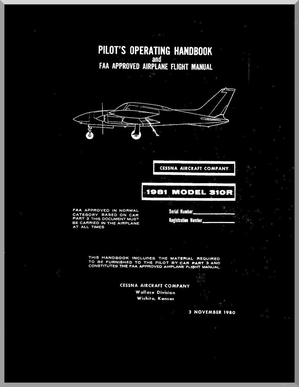 Cessna 310 manual