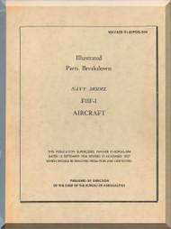Grumman F11F-1 Illustrated Parts Breakdown  Manual AN  01-85FGG-504, 1957