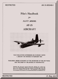 """Grumman AF-2S  """" Guardian """" Aircraft Flight Manual - 01-85DAB-1 - 1951"""
