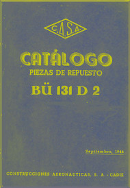 CASA 1.131 Jungmann / Bücker Bü 131 Aircraft Illustrated Parts Manual - ( Spanish Language )