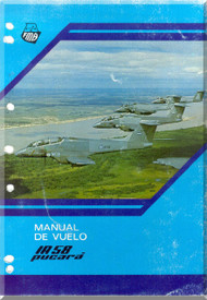 FMA IA 58 Pucara  Aircraft Flight Manual - ( Spanish Language )