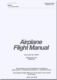Pilatus PC-7  Aircraft  Flight  Manual -  ( English Language )