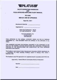 Pilatus PC-12 / 45  Aircraft  Flight  Manual -  ( English Language )