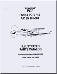 Pilatus PC-12  Aircraft  Illustrated Parts Catalog  Manual -  ( English Language )