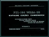 PZL 104 Wilga 35  Aircraft  Catalogof Spare Parts    Manual -  ( English Language ) , 1974