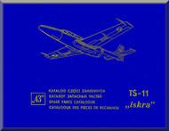 "PZL TS-11 "" Iskra "" Aircraft Spare Parts Catalog -  ( English Language )"