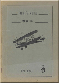 Stampe SV4 B Aircraft Flight Pilot's Notes Manual   (English language ) -  1948