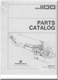 Fairchild Hiller FH-1100 Helicopter Parts Catalog  Manual - 1975