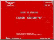 "SNCASO SO  4050 Vautour "" N "" Aircraft Flight  Manual Manuel de l'equipage ( French Language )"