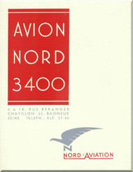 Nord 3400 Aircraft  Technical  Brochure Manual (French language )