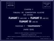 "Dassault  "" Flamant I II III ""   Aircraft  Mechanical Parts Catalog  Manual -  Equipments - TEXT , ( French Language )"
