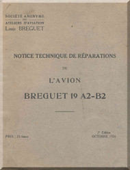 Breguet Type 19 A2 B2 Aircraft Technical  Manual ( French Language )