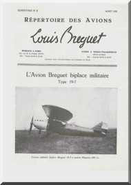 Breguet 19 7  Aircraft Technical Brochure  Manual ( French Language )