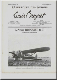 Breguet 39 T   Aircraft Technical Brochure  Manual ( French Language )