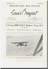 Breguet 27 3 A2 B2 R2   Aircraft Technical Brochure  Manual ( French Language )