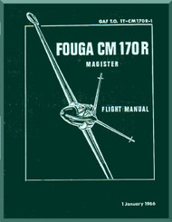 Potez Fouga CM.170 Magister Aircraft Flight  Manual ( English Language )